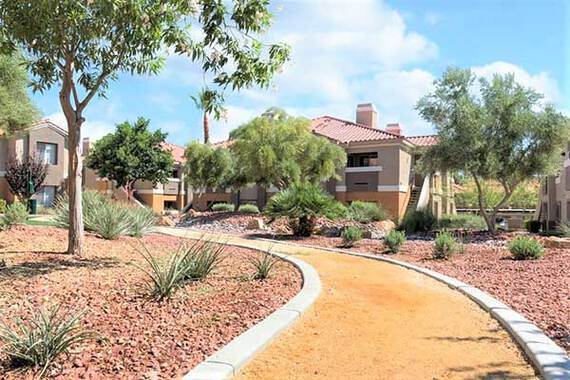 Ritiro Apartments in Peccole Ranch Las Vegas Nevada Walking Trail Photo
